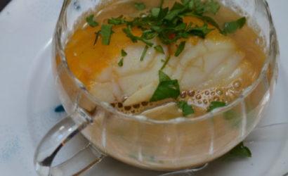 soupe de pois cassé au haddock poché