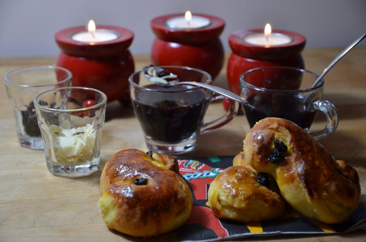 Lussekater et glögg de la sainte lucie recettes traditionnelles de Sankta Lucia