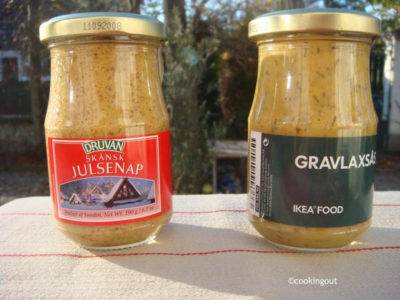 sauces pour gravadlax à la moutarde appelée julsenap