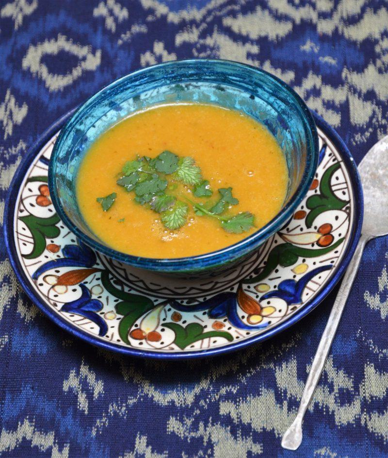 soupe avec les restes de légumes du tajine
