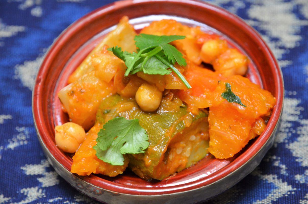Recette de tajine aux légumes à la marocaine parfumé à la coriandre