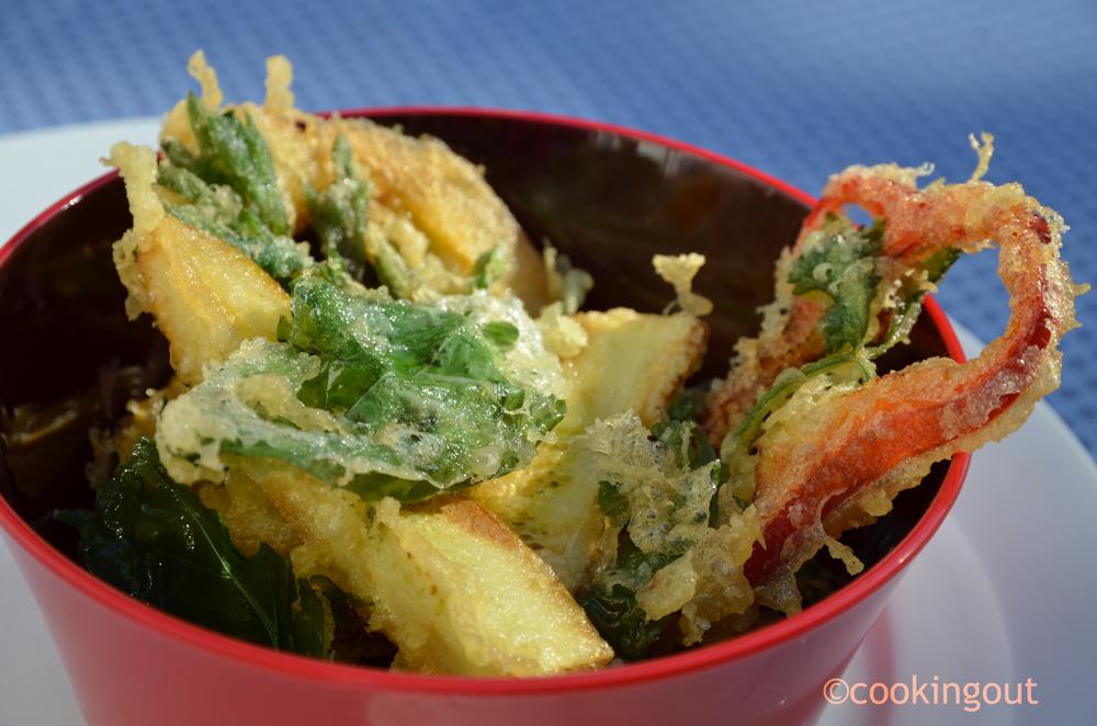 Légumes cuits en tempura à la japonaise