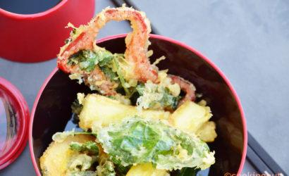 légumes cuits à la japonaise en tempura