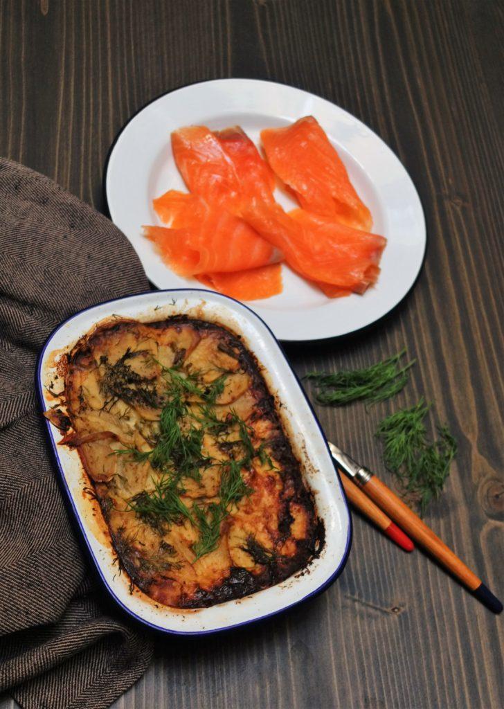 Laxoudding le gratin de saumon nordique pour les fêtes de Pâques