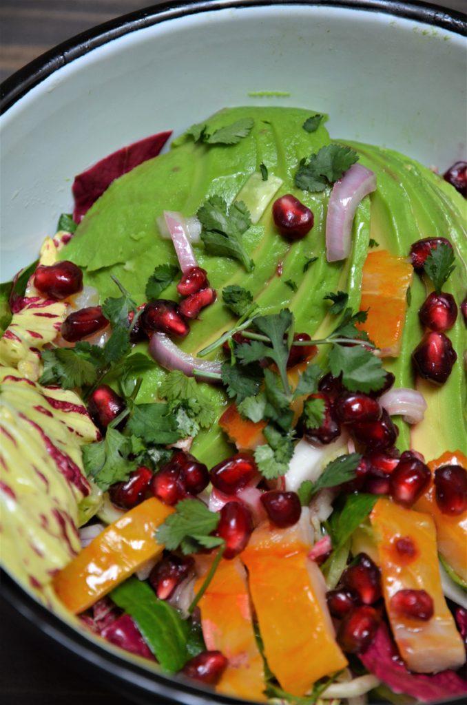 recette originale de salad bowl au haddock, avocat, grenade