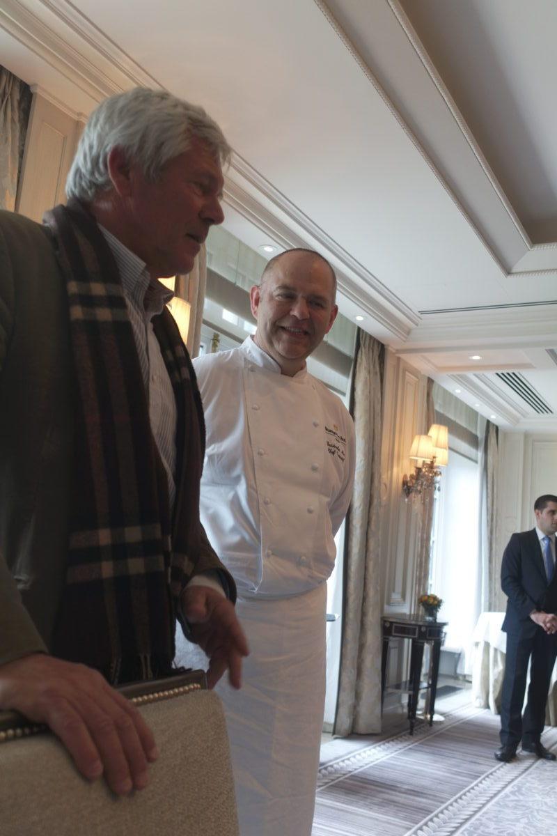 Christophe Moret chef de l'Abeille et Dominique Befve directeur du Château Lascombes