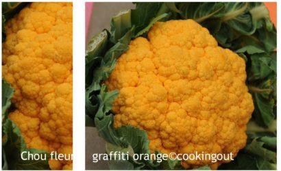 chou fleur graffiti orange