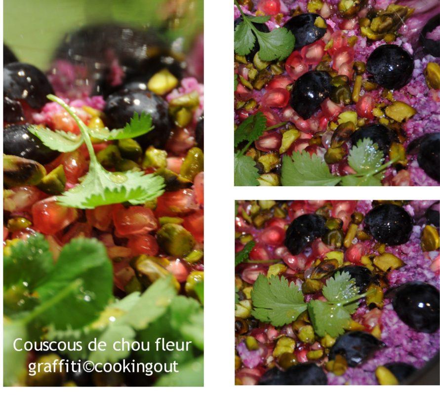Recette de couscous avec du chou fleur graffiti violet