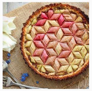 tarte à la rhubarbe instagram