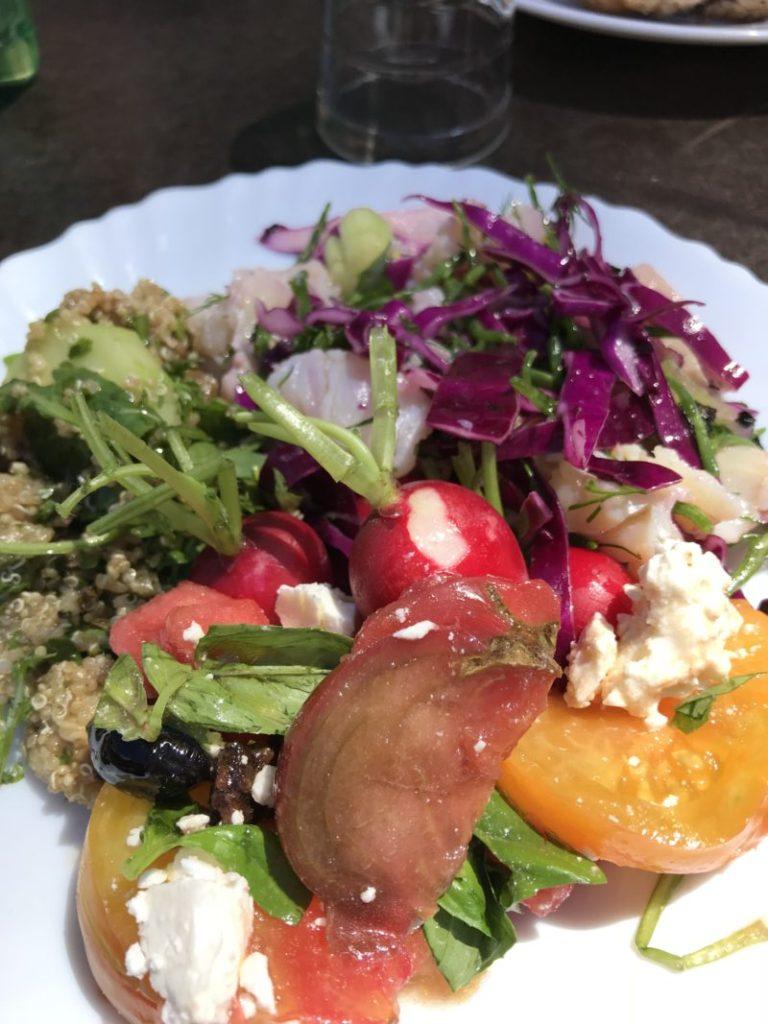 assiette aux 3 salades et radis
