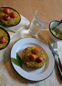 galette de courgettes et carottes à la farine de pois chiche et à la sauge