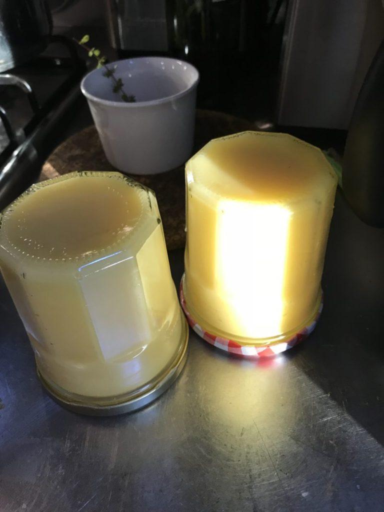Pots de lemon curd