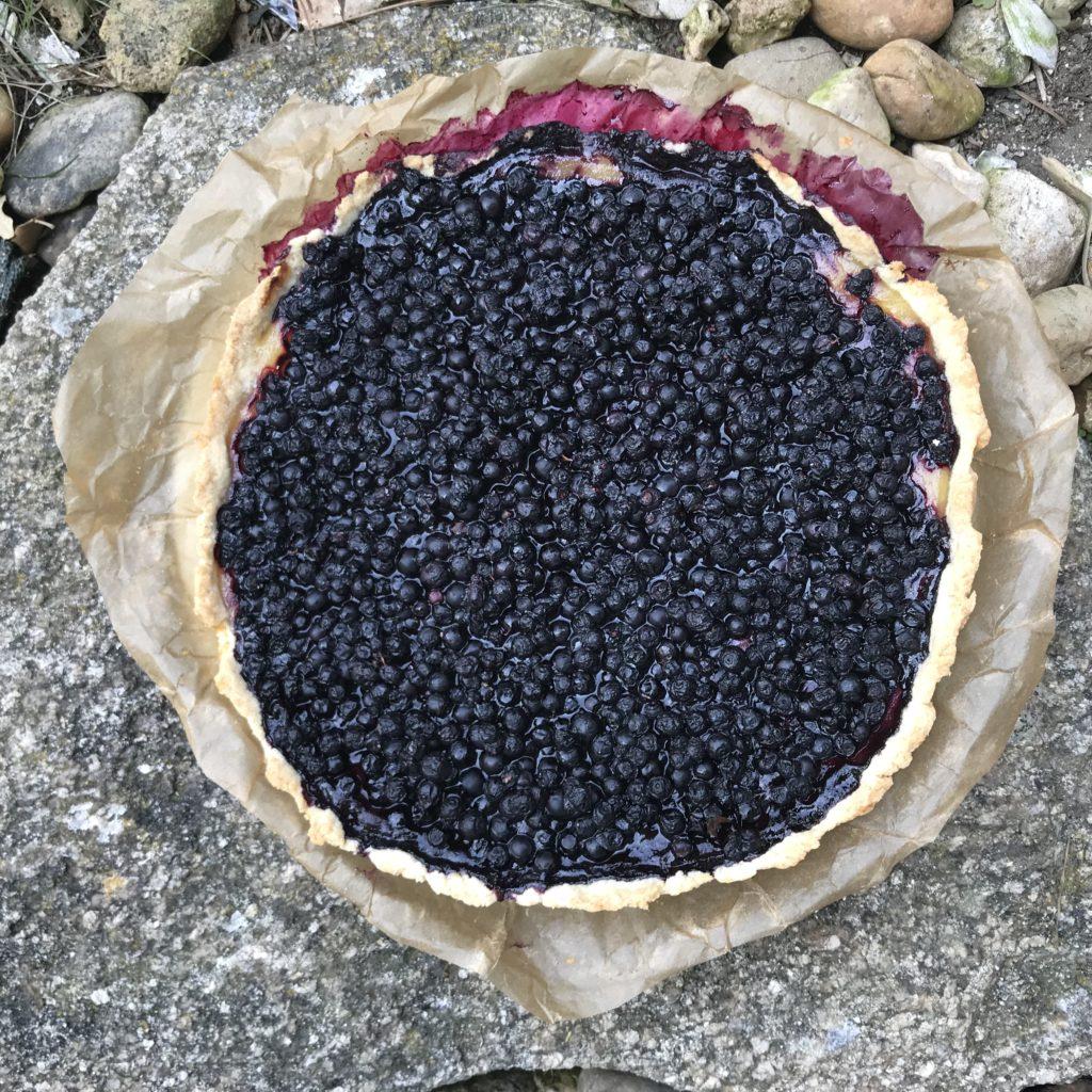 tarte myrtilles sauvages pâte sablée à l'amande