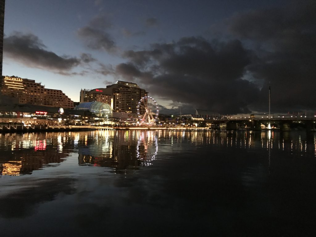 Le quartier de Harbour Bay by night