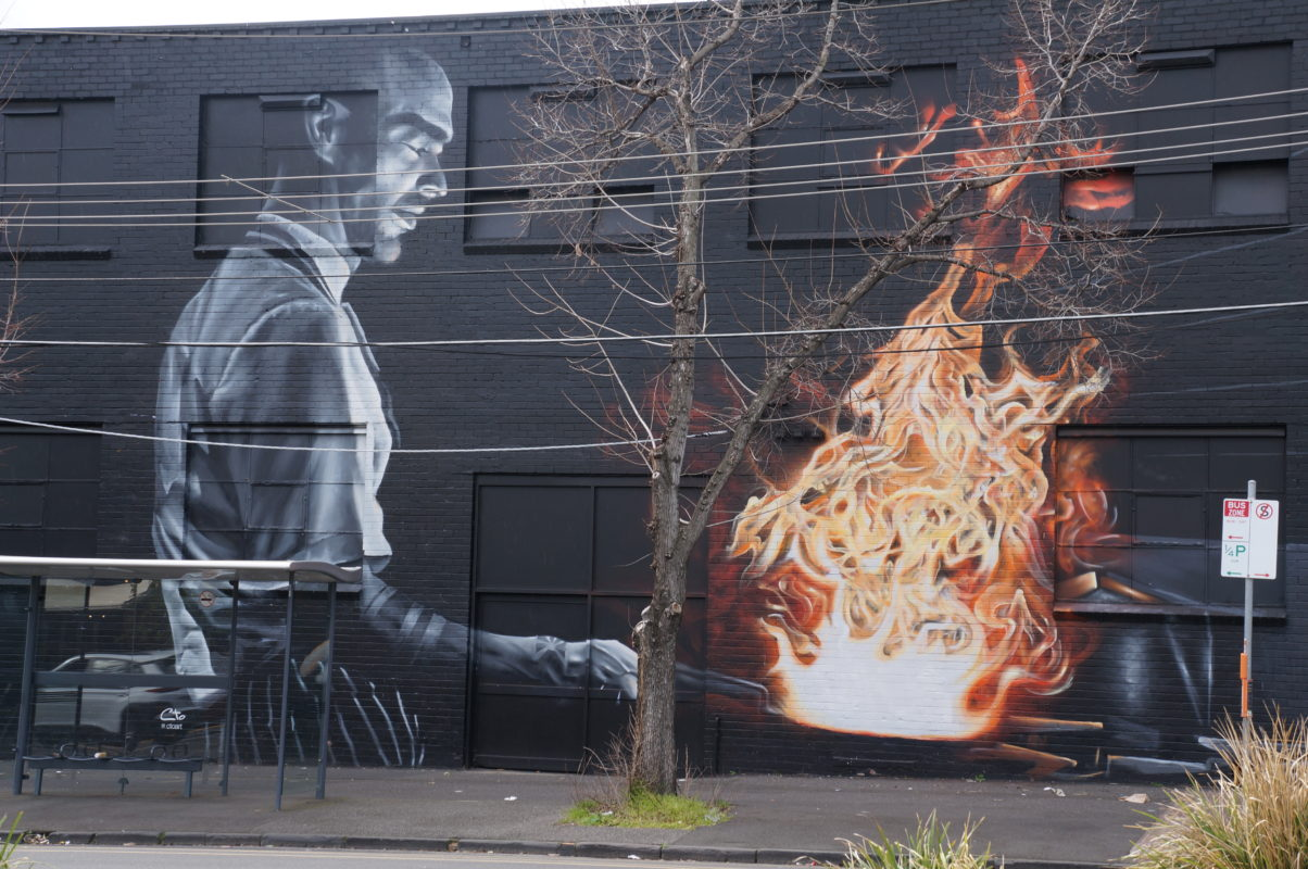 Melbourne Street art devanture