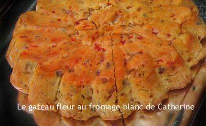 gateau fleur au poivrons et fromage blanc