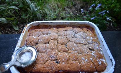 dessert aux fruits d'automne quetsches et coing