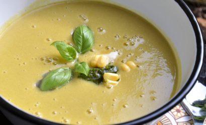 soupe de maïs au bouillon de volaille