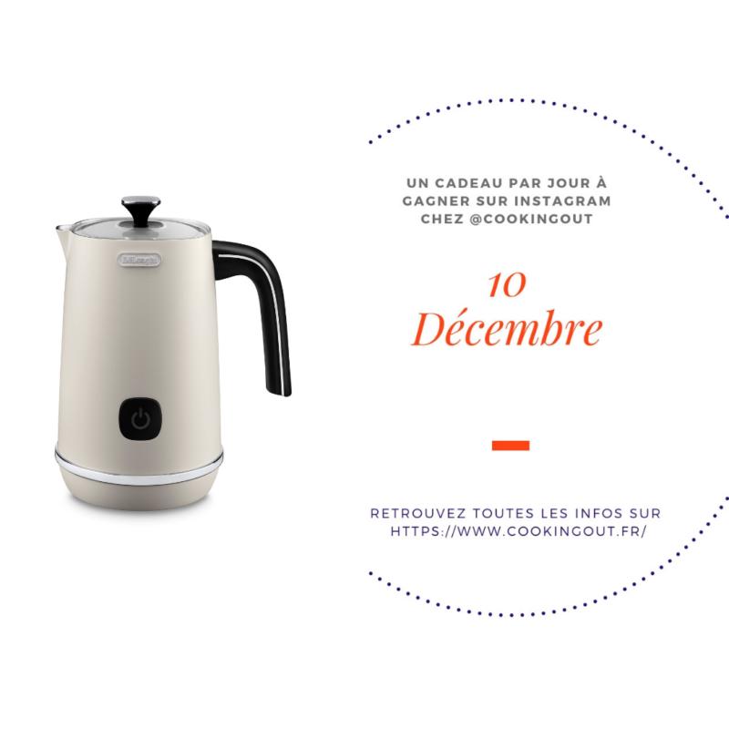Calendrier de l'Avent 10 décembre émulsionneur de lait De Longhi