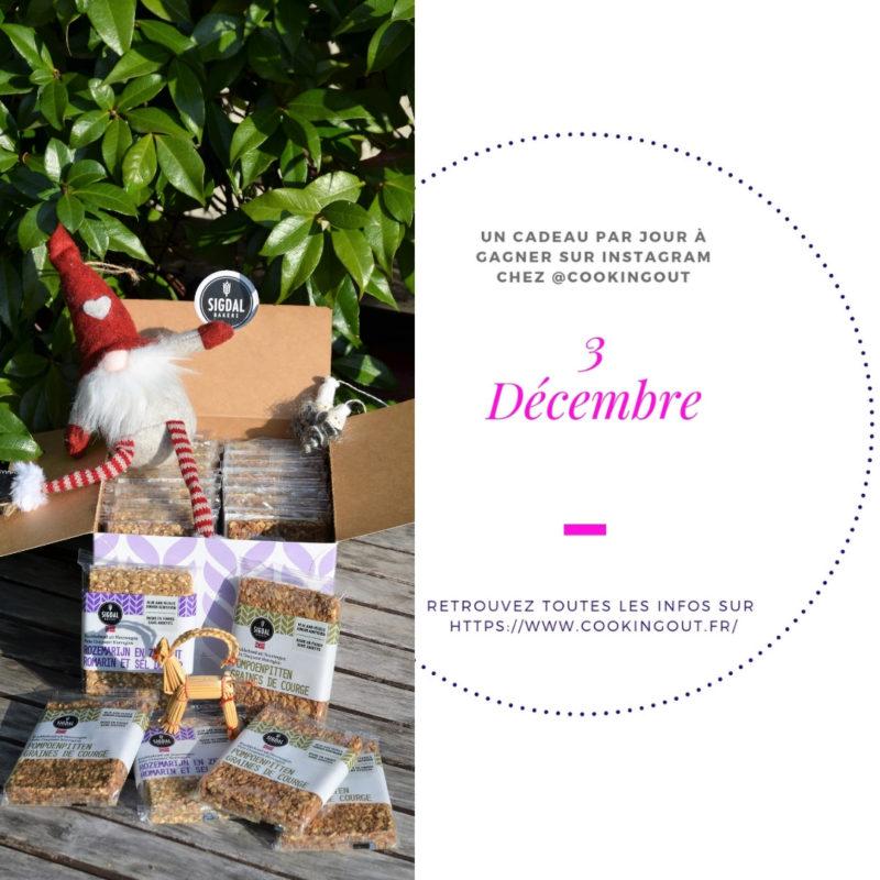 Lot du 3 décembre du claendrier de l'Avent les crackers Sygdal