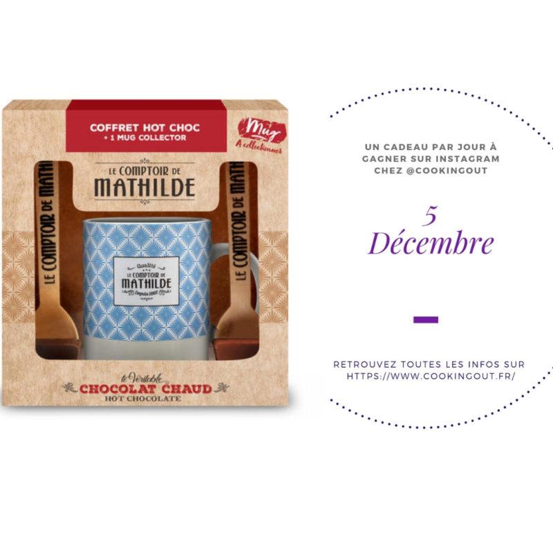 lot du 5 décembre tasse et chocolat Le comptoir de Mathilde