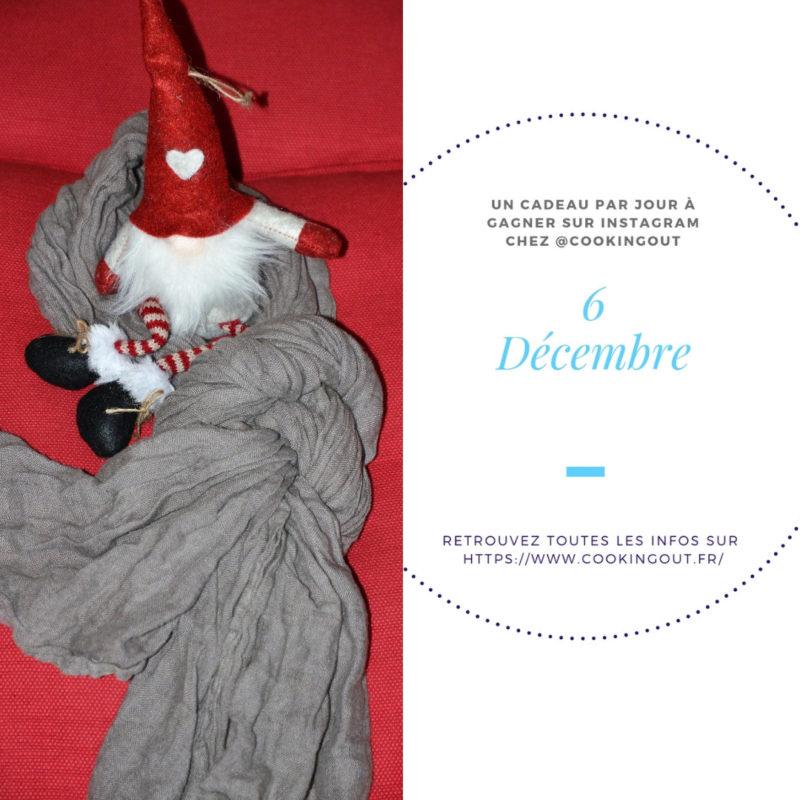 6 décembre-écharpe en lin-Calendrier de l'Avent Hygge