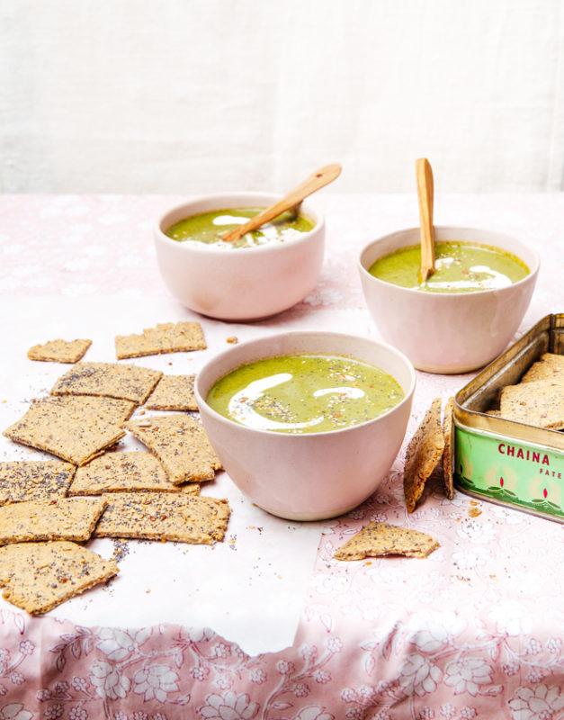 Soupe verte et crackers danois by Sandra Salmanjee