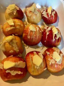 plat de pommes au massepain