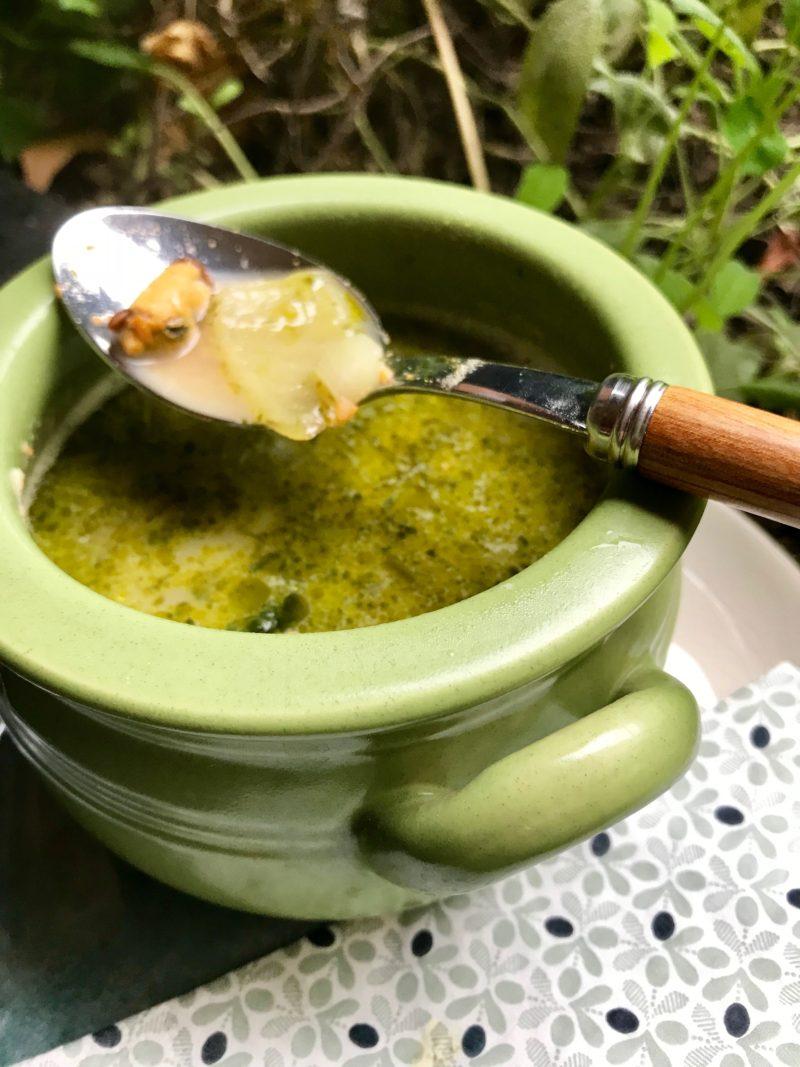 soupe aux corails de St Jacques et moules