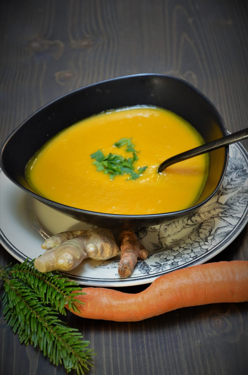 soupe detox carottes gingembre et curcuma