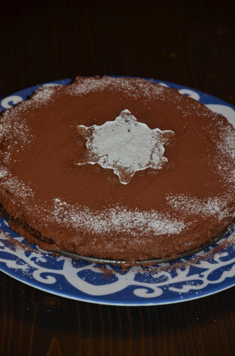 Gâteau au chocolat base mousse au chocolat cuite et crue