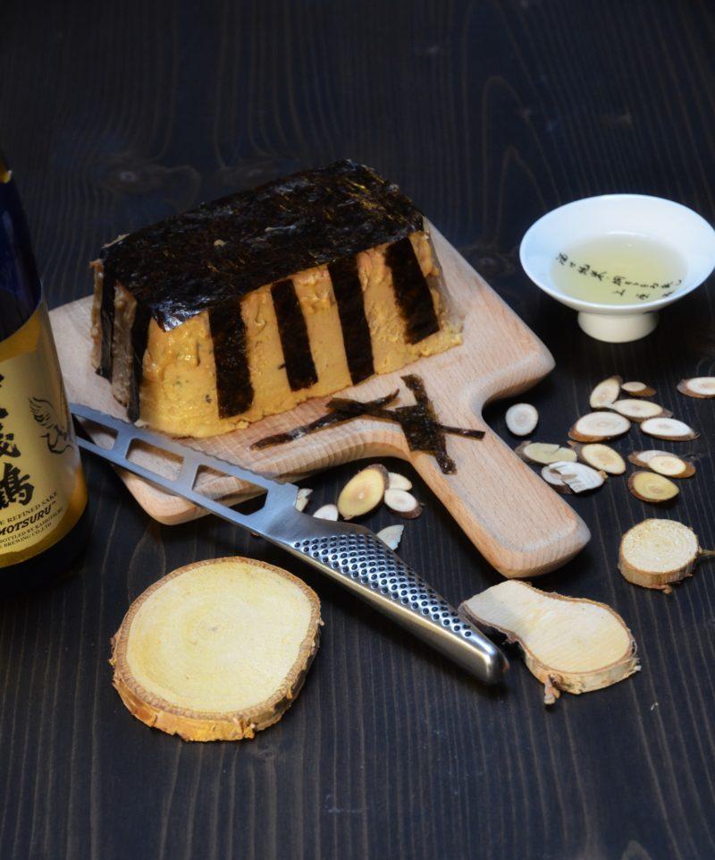 foie gras cuit au four parfumé au saké