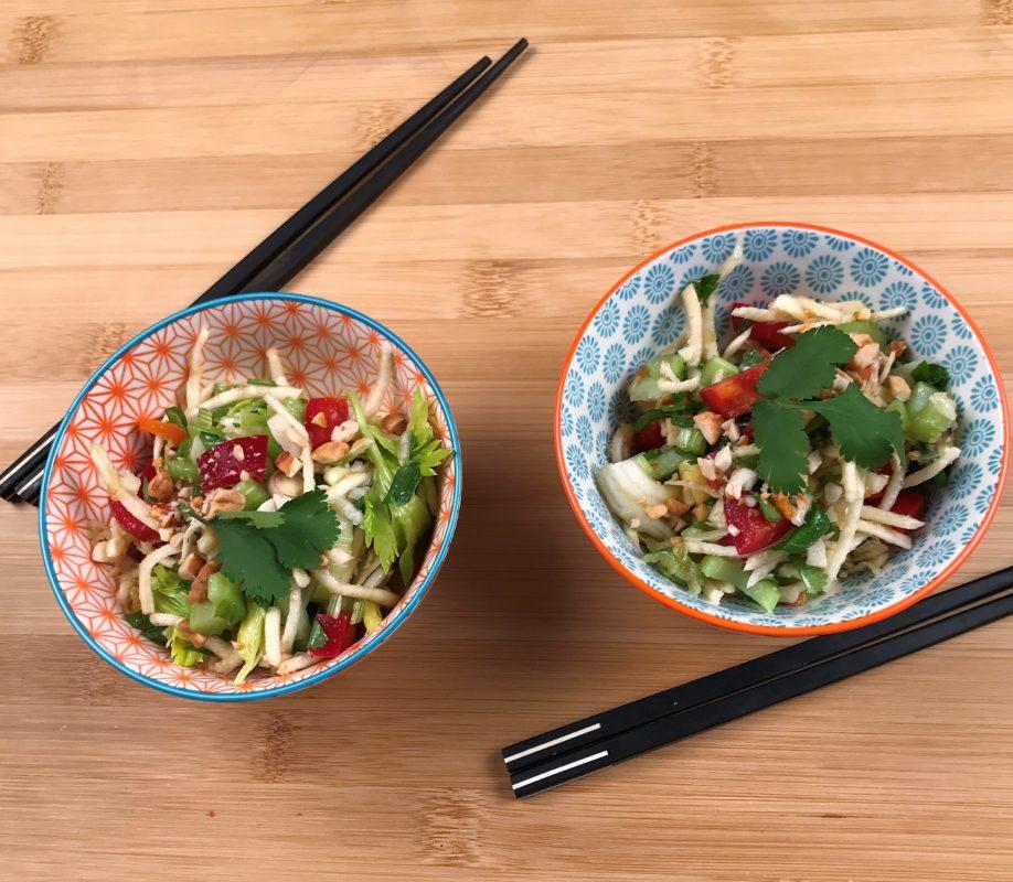 salade thai aux 3 céleris parfumée à la coriandre