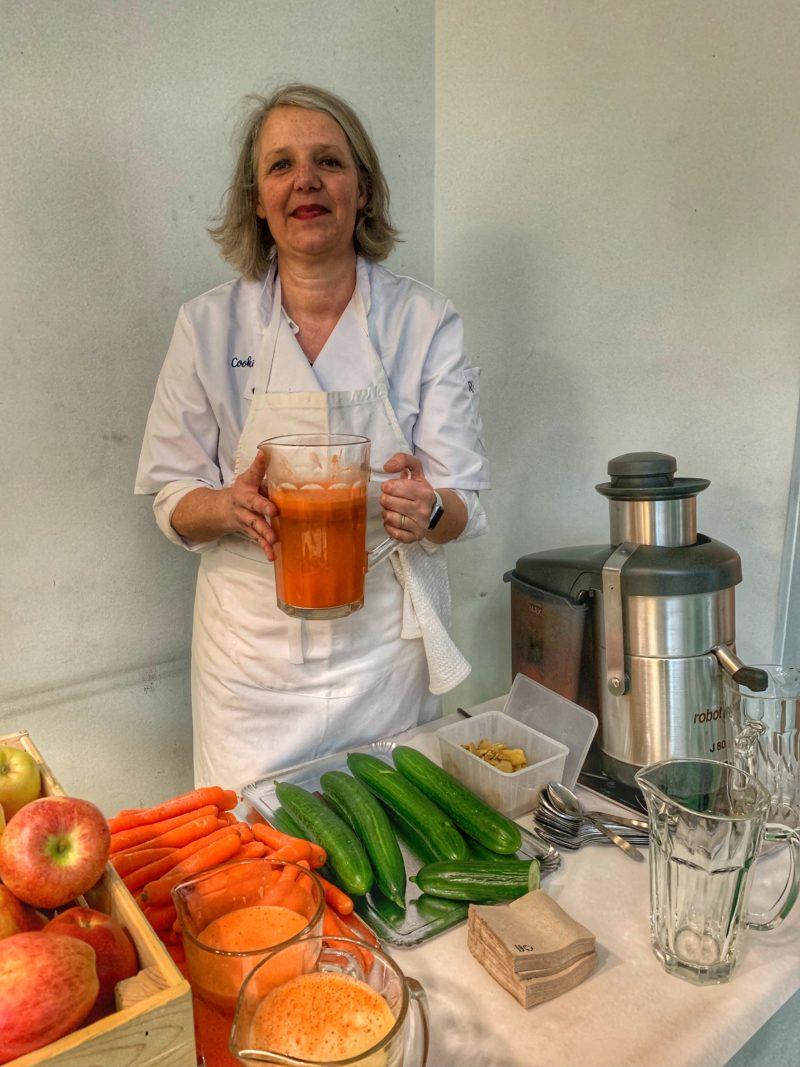 Birgit et les jus de légumes frais