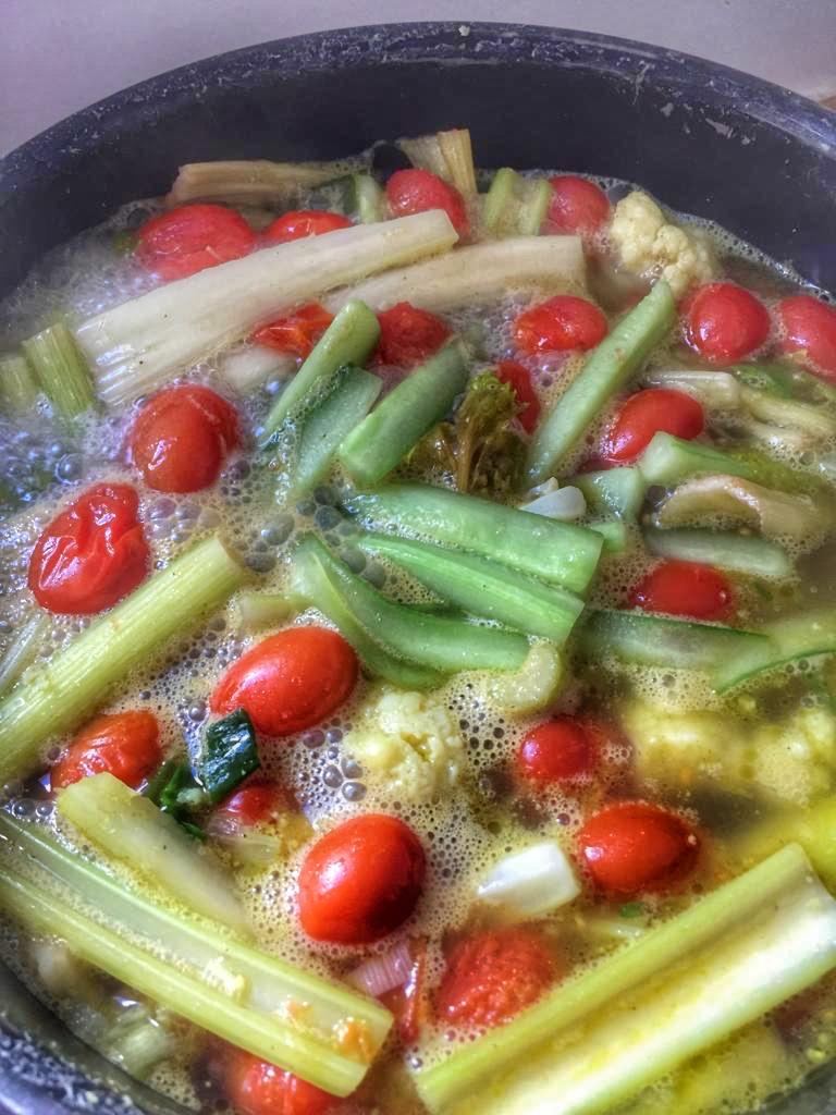 soupe avec les reste des légumes d'Apéro
