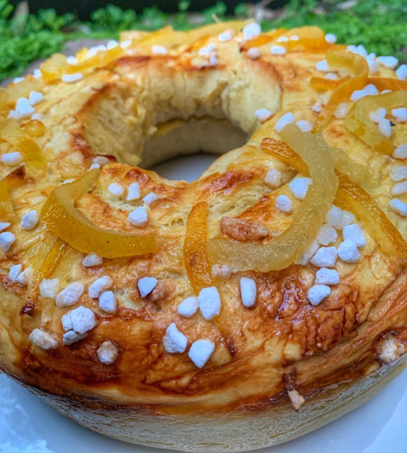 La Mouna au yuzu inspirée d'une recette oranaise de brioche de Pâques