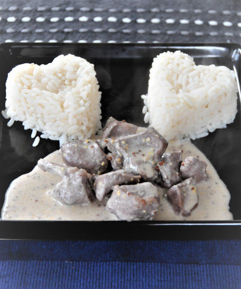recette de cœur d'agneau cuisiné à la moutarde