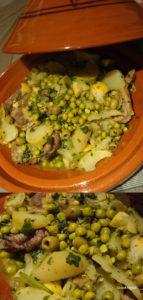 tajine d'agneau aux légumes verts