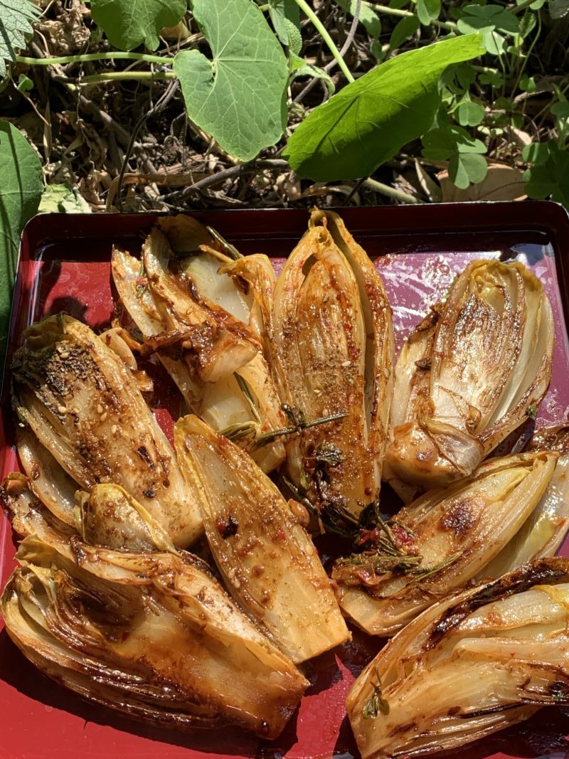 endives cuites au zaatar et harissa