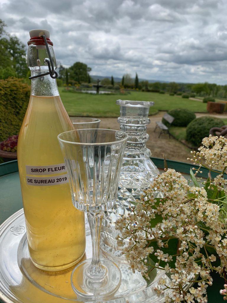 sirop de fleurs de sureau servi au Château