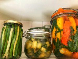 Pots de légumes fermentés premiers tests