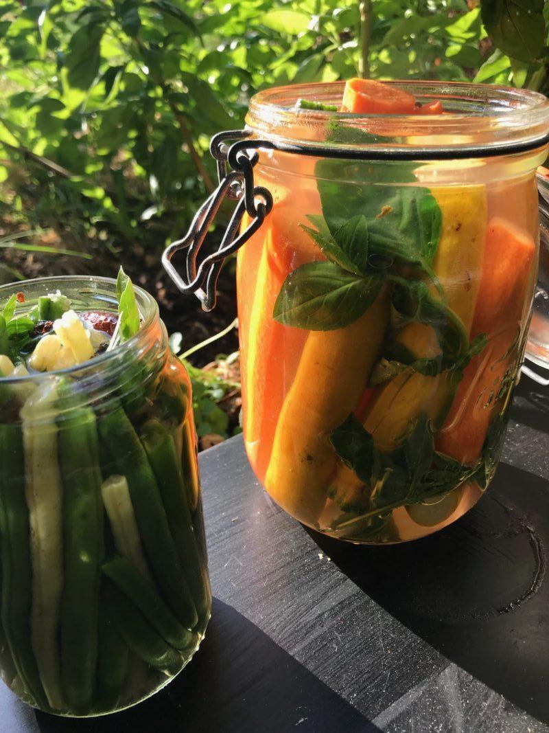 carottes et courgettes jaunes fermentées