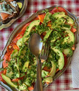 Variation autour de la salade de tomate