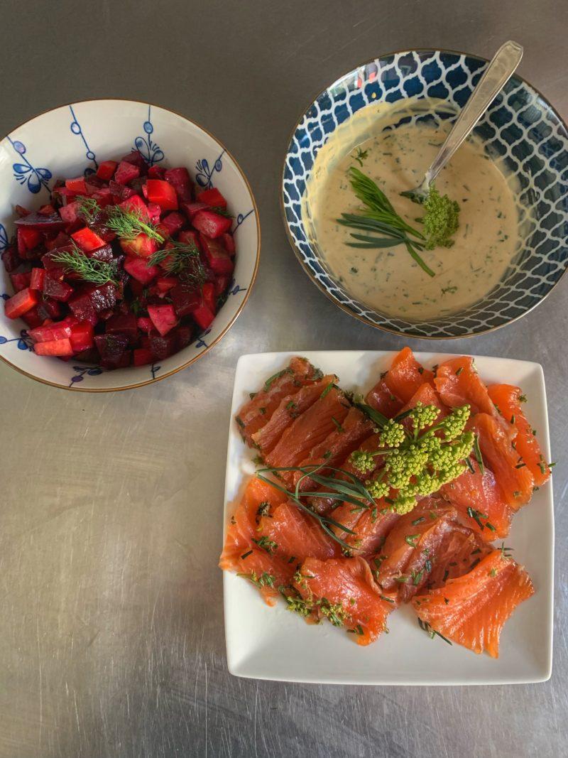 recette e gravlax original à la criste marine