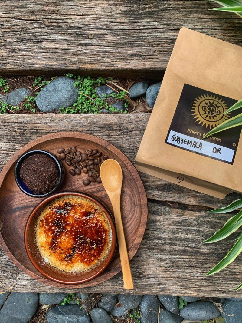 café du Guatemala huehuetenango pour parfumer la crème brûlée