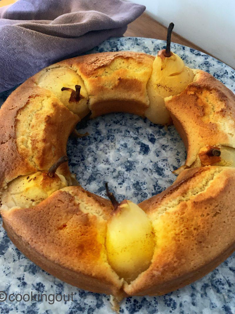 Recette de gâteau aux poires et crème