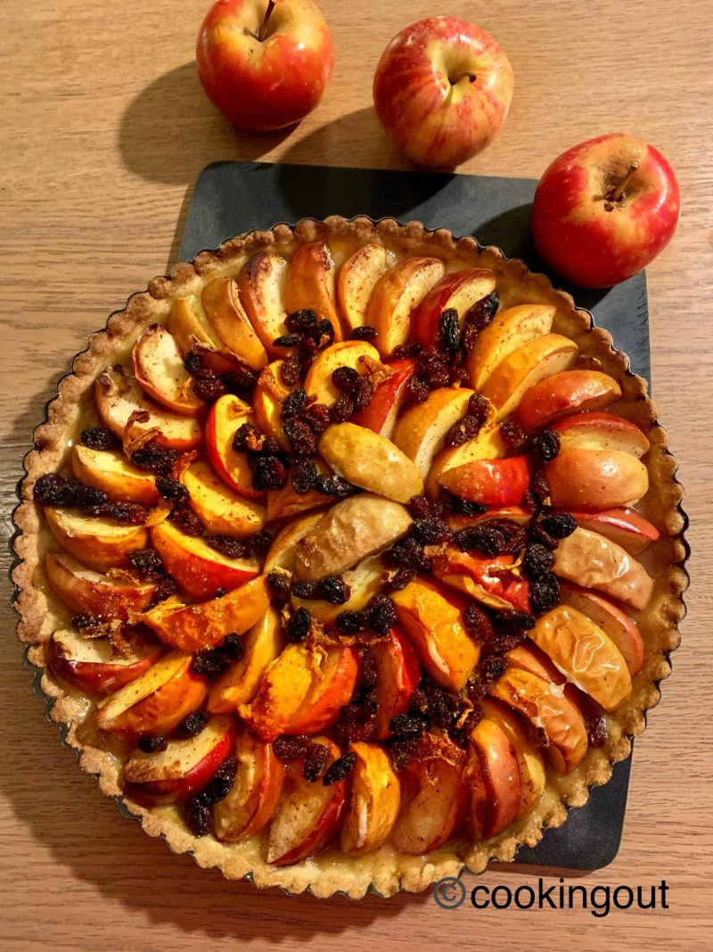 tarte aux pommes facon strudel