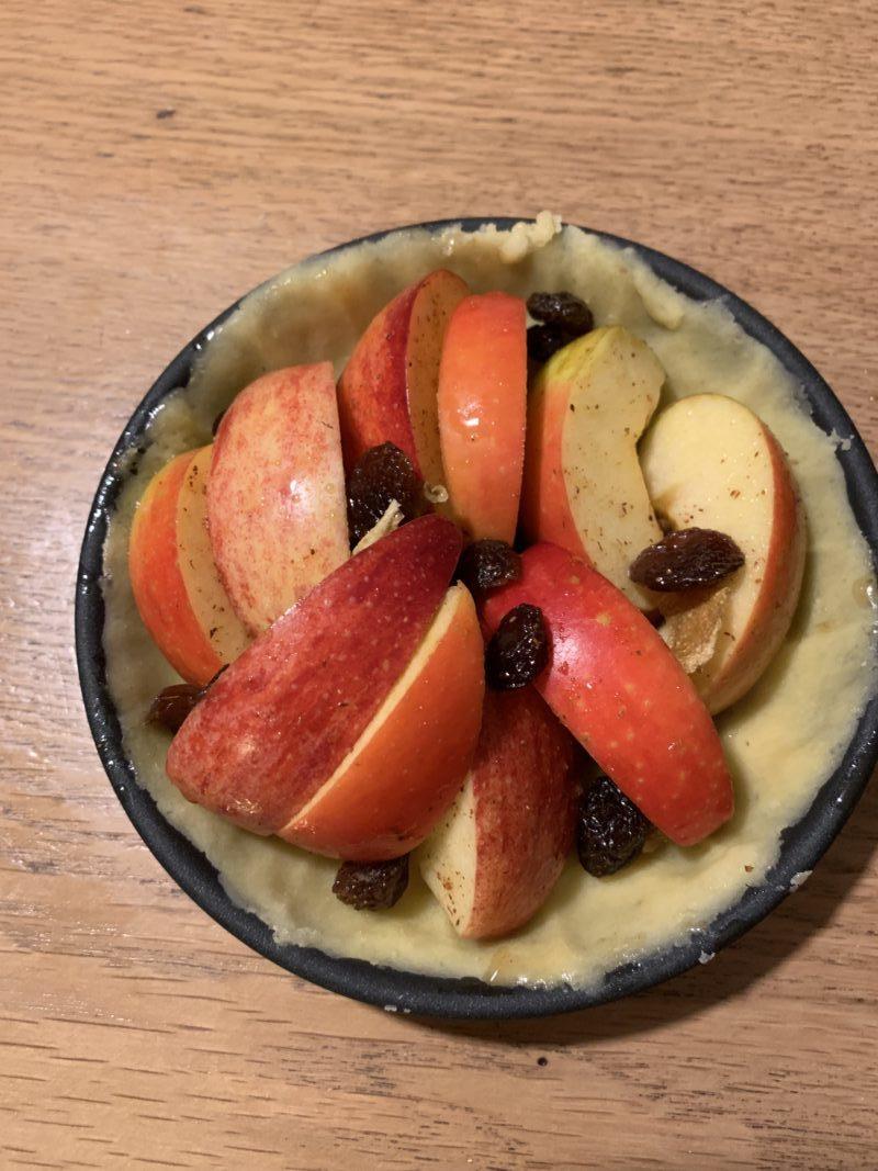 tartelette aux pommes façon strudel