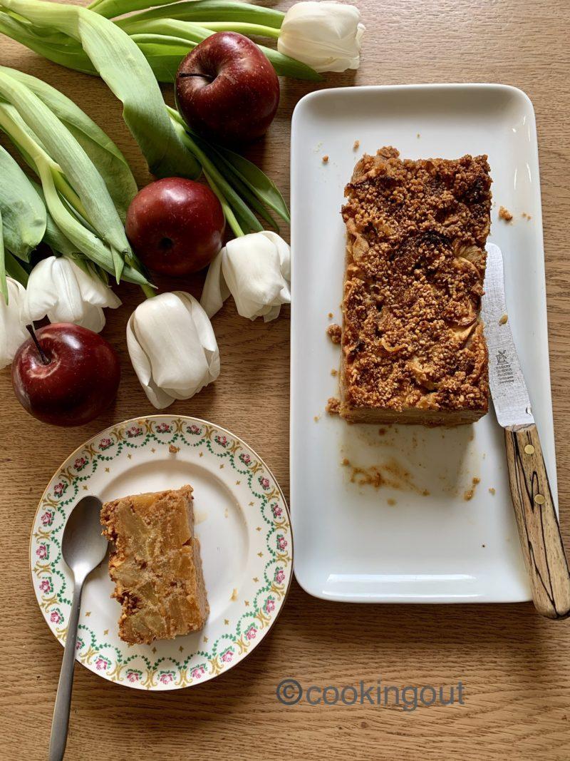 gâteau fondant aux pommes et praliné sans gluten