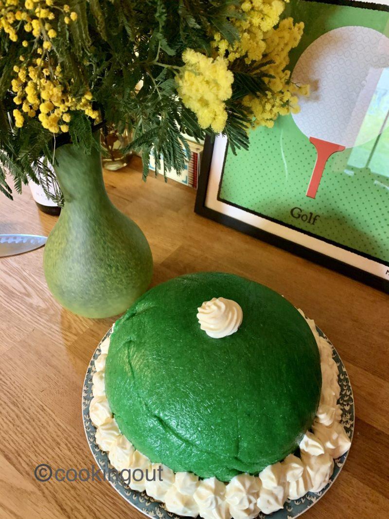 LaPrinsesstårtale gâteau à la pâte d'amande verte